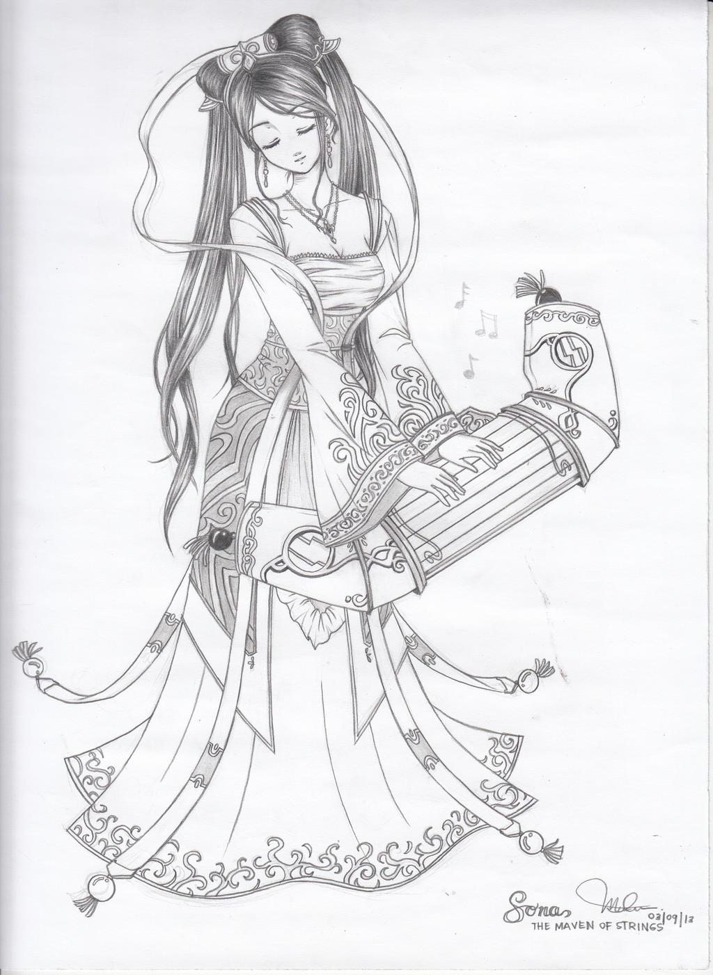 Sona, Maven of the Strings by avlem0126