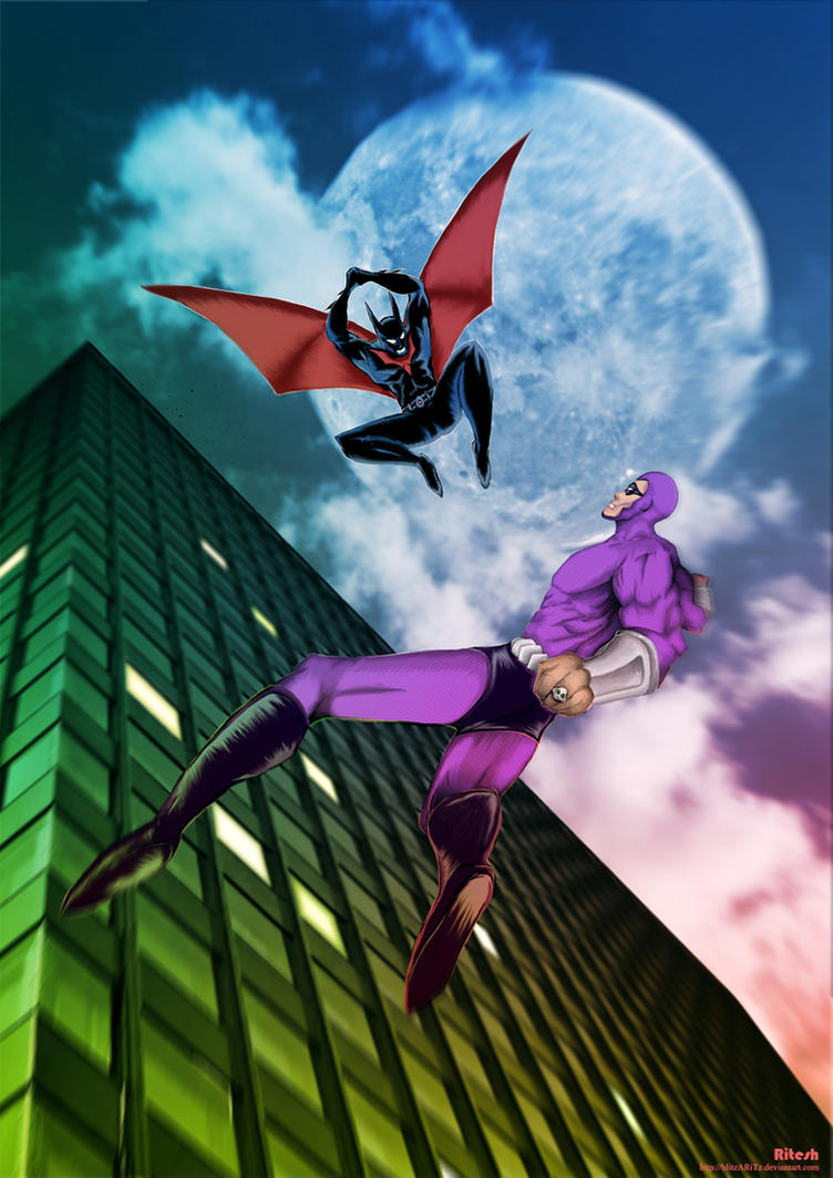 Batman Beyond Vs Phantom 2040 by blitzARiTz