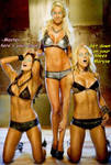 Eve Torres, Michelle McCool and Maryse Hypnotized
