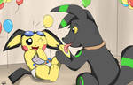 GreenWhisp and Donnie the Pichu