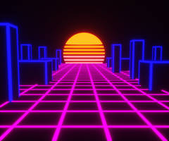 Outrun With Voxels