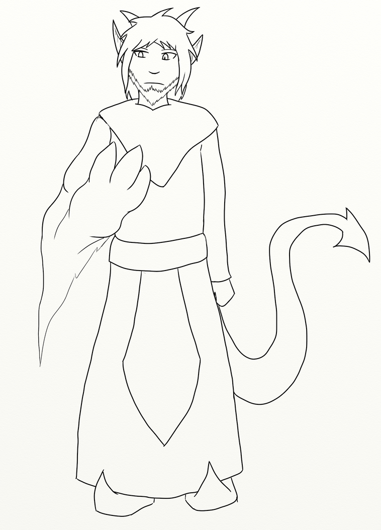 Some idiot lineart by GrazArts