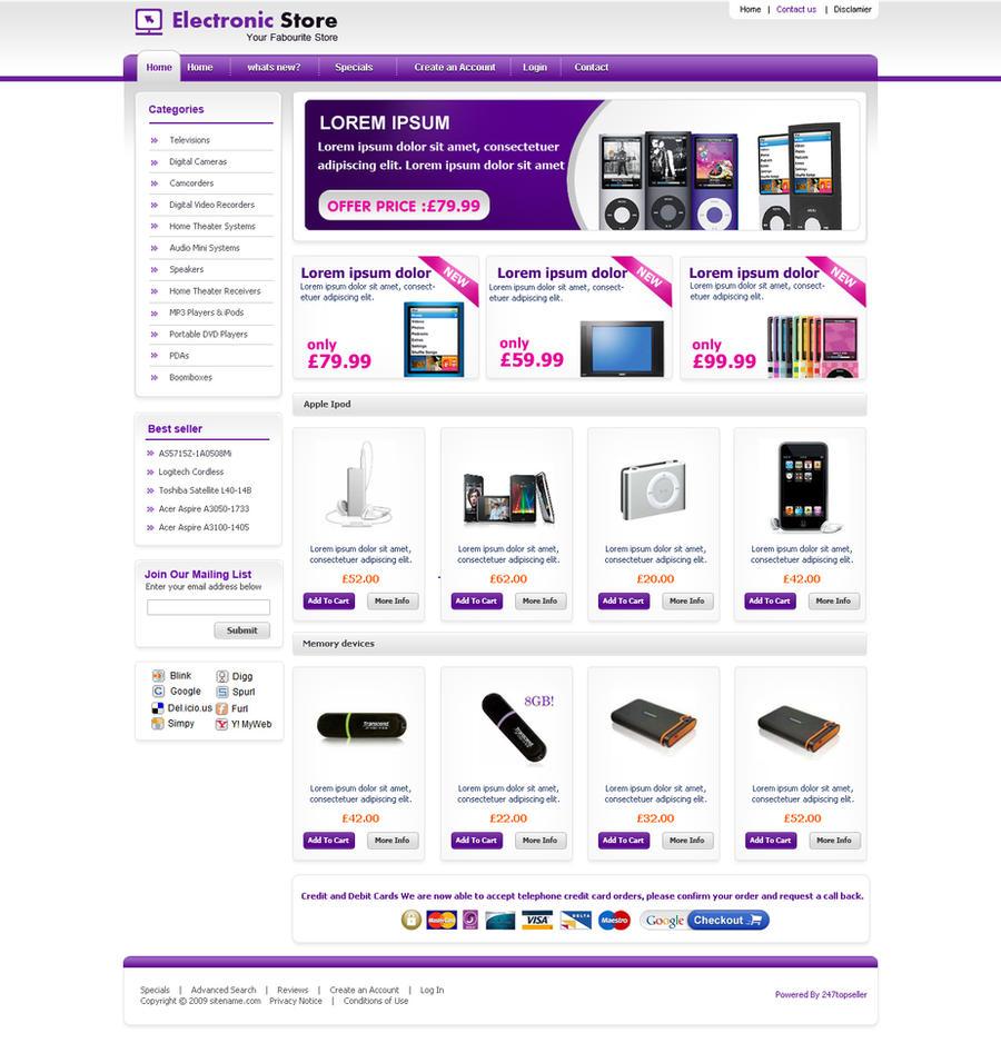 ecommerce template by samirbitt16 on DeviantArt