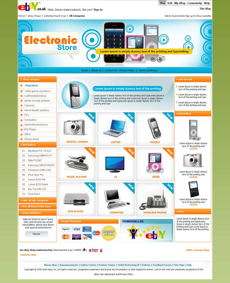 Ebay Store Design By Samirbitt16 On Deviantart