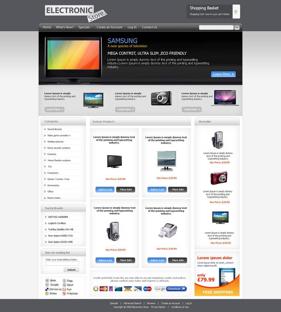online learning solutions ecommerce template. Black Bedroom Furniture Sets. Home Design Ideas