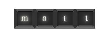 Name in Keys by Matt-kun29