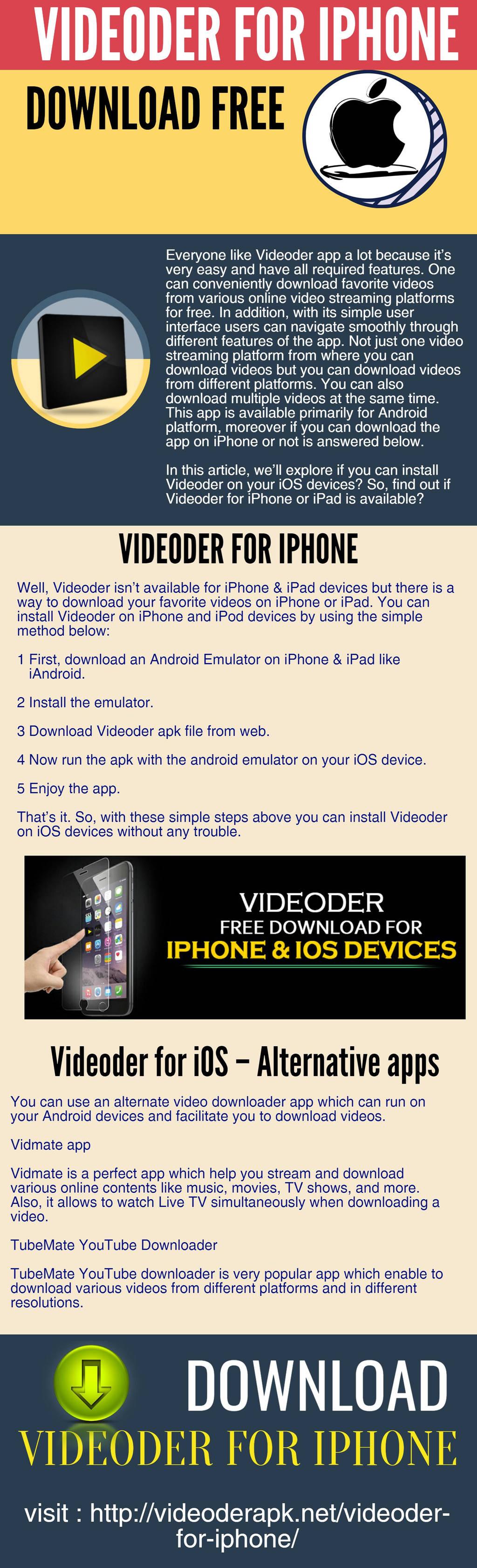 Videoder For IPhone Download Free by videoderapk on DeviantArt