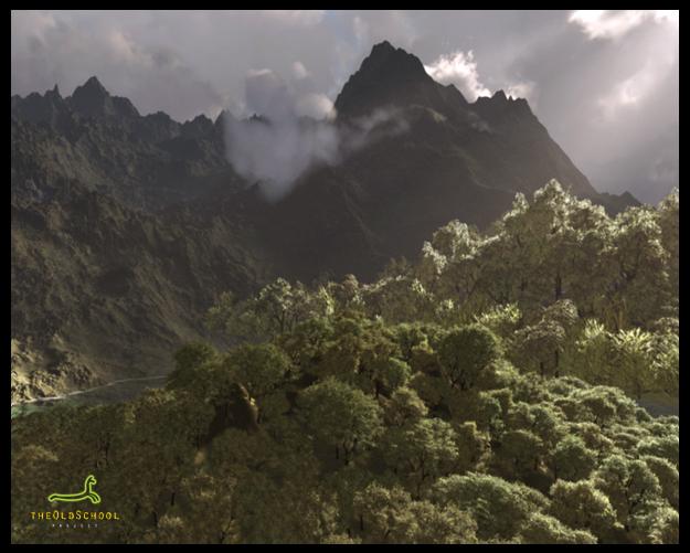 Jungle Landscape - Concept Art by ARTOFTHEOLDSCHOOL