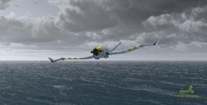 Flying over the sea - Con.Art by ARTOFTHEOLDSCHOOL