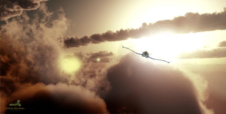 Flying in the Sky by ARTOFTHEOLDSCHOOL