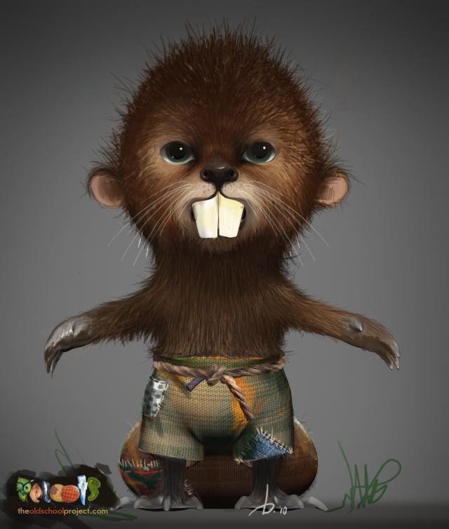 PELOOTS, the beaver by ARTOFTHEOLDSCHOOL