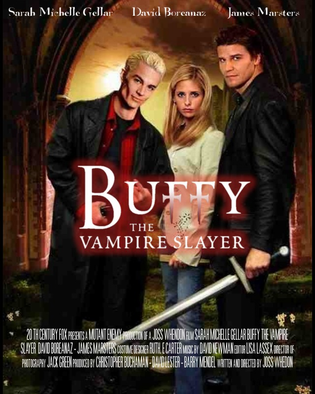 buffy the vampire slayer movie poster by evilsapphire on