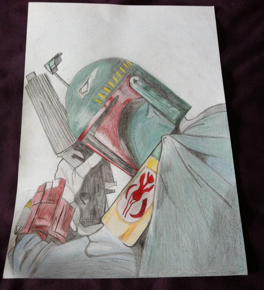 Boba Fett completed drawing by Evil-Sapphire