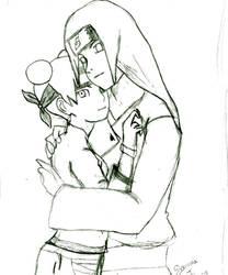 Neji and Tenten sketch start by Sillysammijo