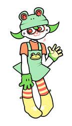 Froggy clown by jkcafe