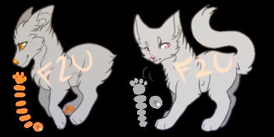Smollo canine + feline adopt base- f2u by Sixbane