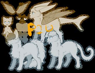 Feline + canine adopt- P2U lines by Sixbane