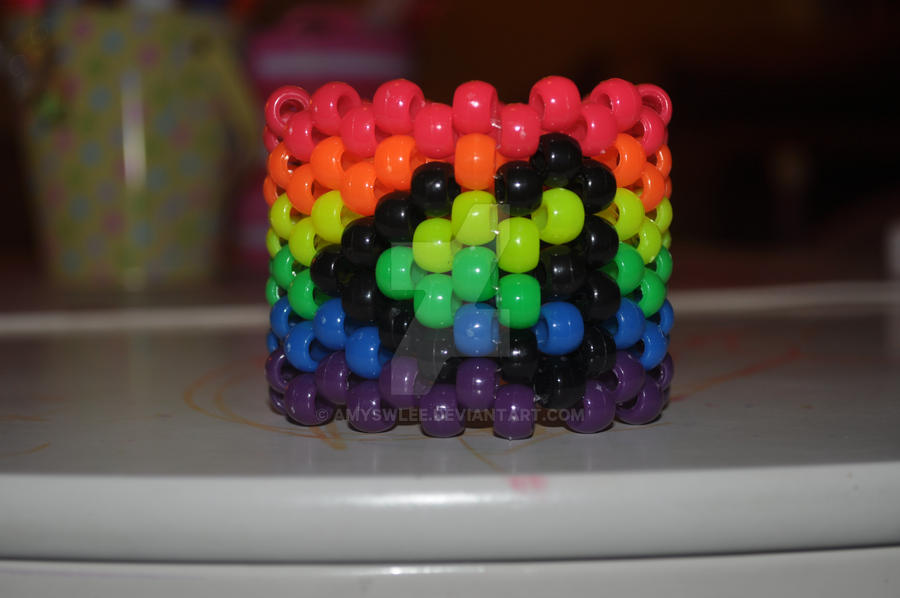 Rainbow Heart Cuff by amyswlee