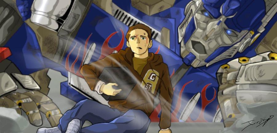 Optimus prime and sam by javierreyes on deviantart