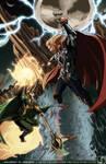 Commission- Thor VS Loki