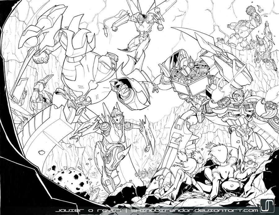 Transformers Prime- Lineart by JavierReyes