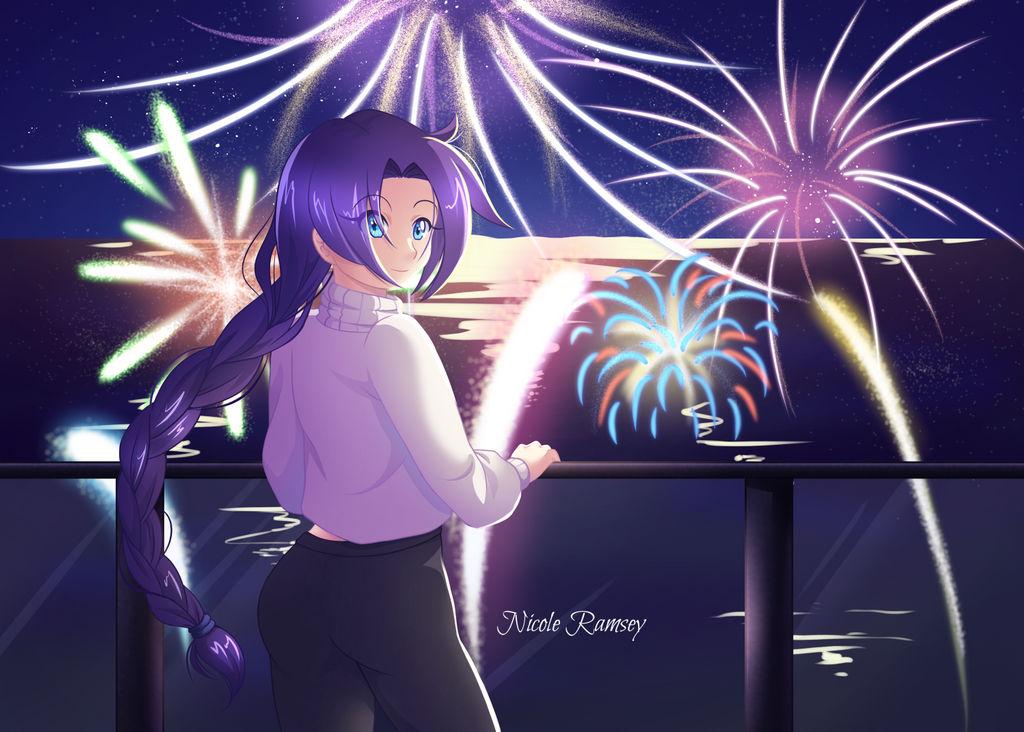 New Years Day with Astraea by NicoleDrawsAnime