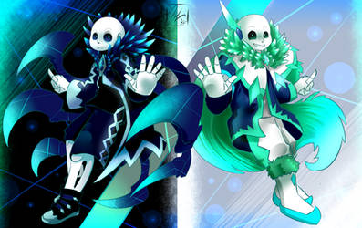 Abyss!Sans: Underheaven Inspired forms! by Wraithvine