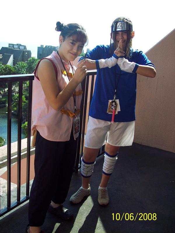 Tenten and Sasuke Attack Pose by BeastGirl9206