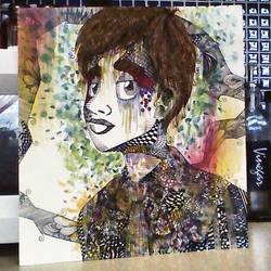 Zentangle Artwork of Brendon Urie by Paige-Hebert