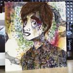 Zentangle Artwork of Brendon Urie