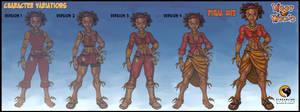 Lola Mamba-Character Variants by HecM