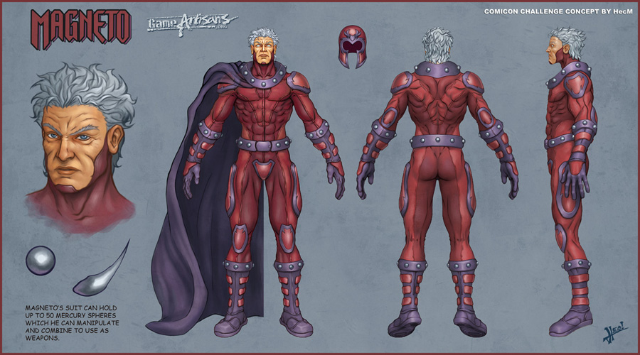 Magneto Model Sheet by HecM