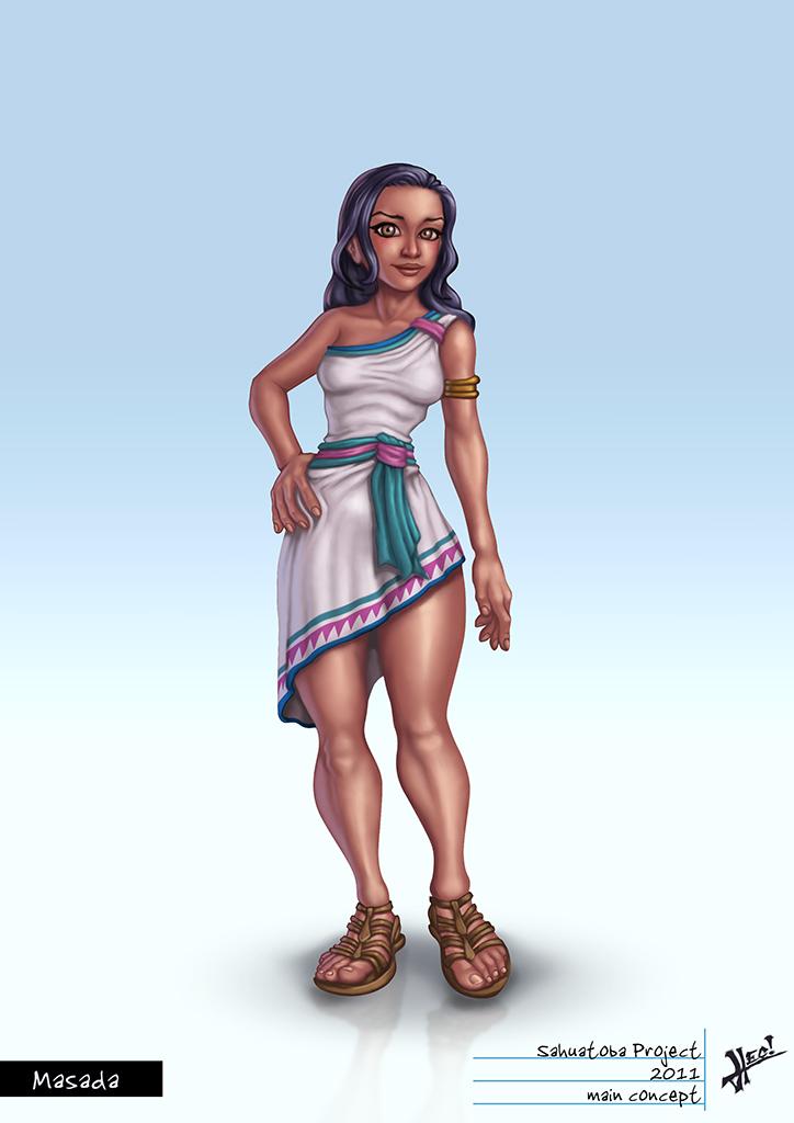 Sahuatoba Characters - Masada by HecM
