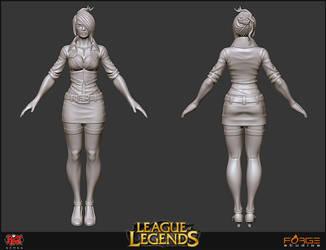 LoL Headmistress Fiora Sculpt by HecM