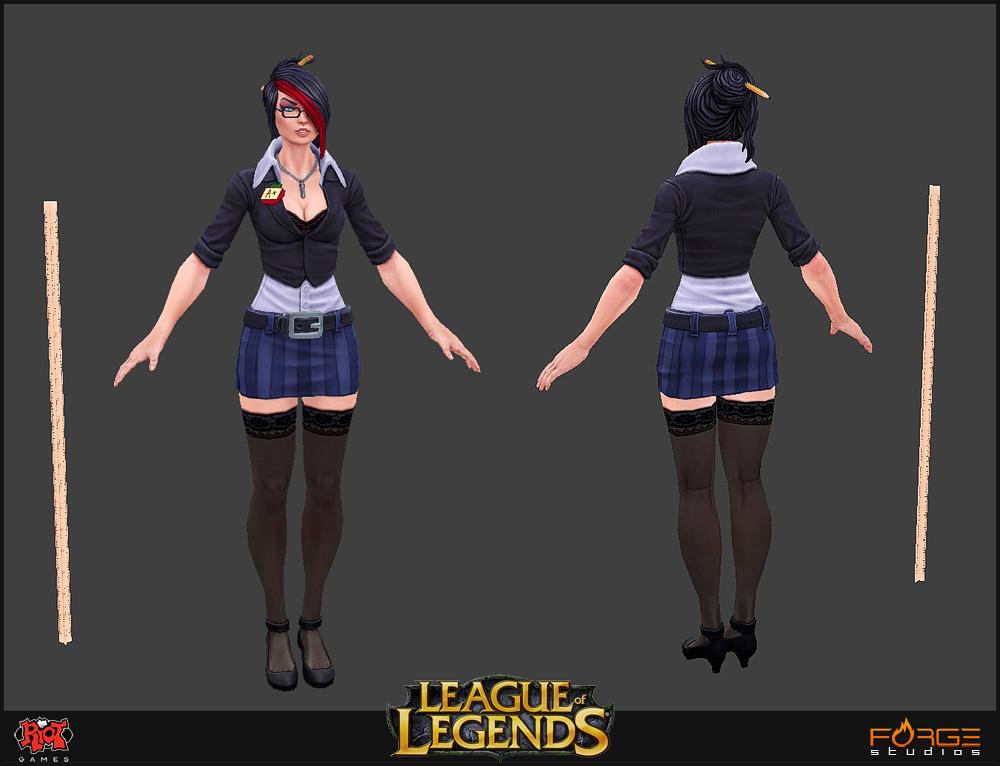 LoL Headmistress Fiora Game Mesh by HecM