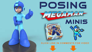 Timelapse - How Megaman Miniatures are posed