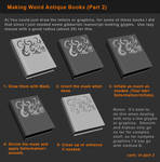 Zbrush Tutorial -  Books and Detailing Props P2