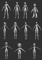 Female Body Bases P2 by HecM