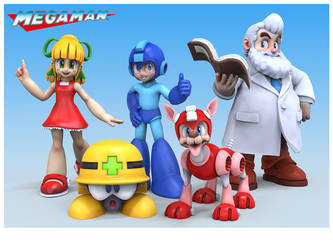 Megaman Family Portrait by HecM