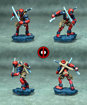 DeadPool Printed and Painted