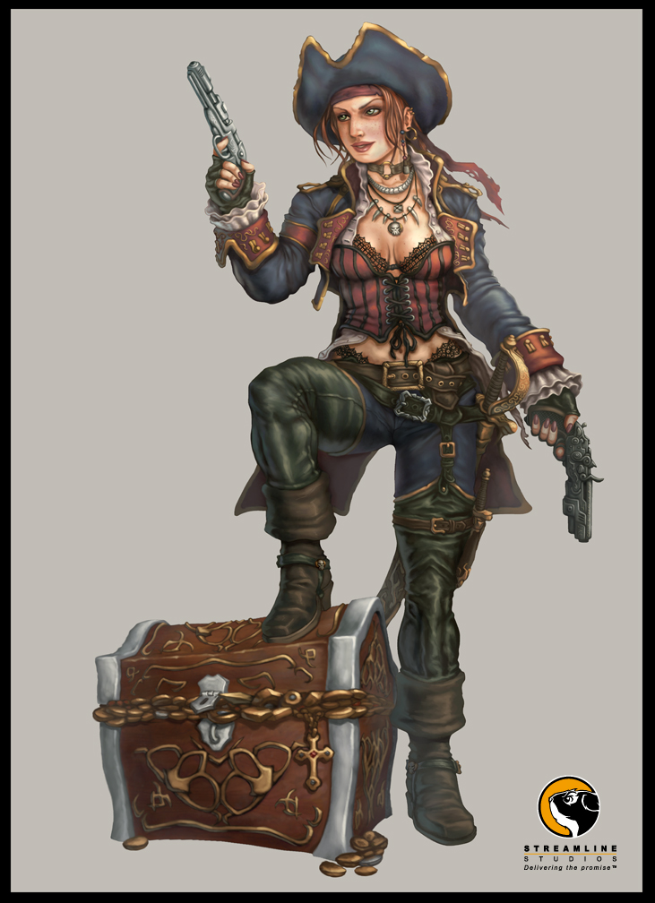 arms bare legs bare midrifs axe hotter pirate chick Hot Pirate Chick