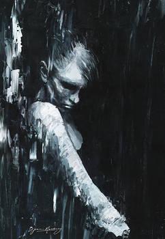 Figure In Pouring Rain