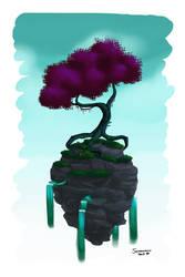 Floating Tree Island by Somnusvorus