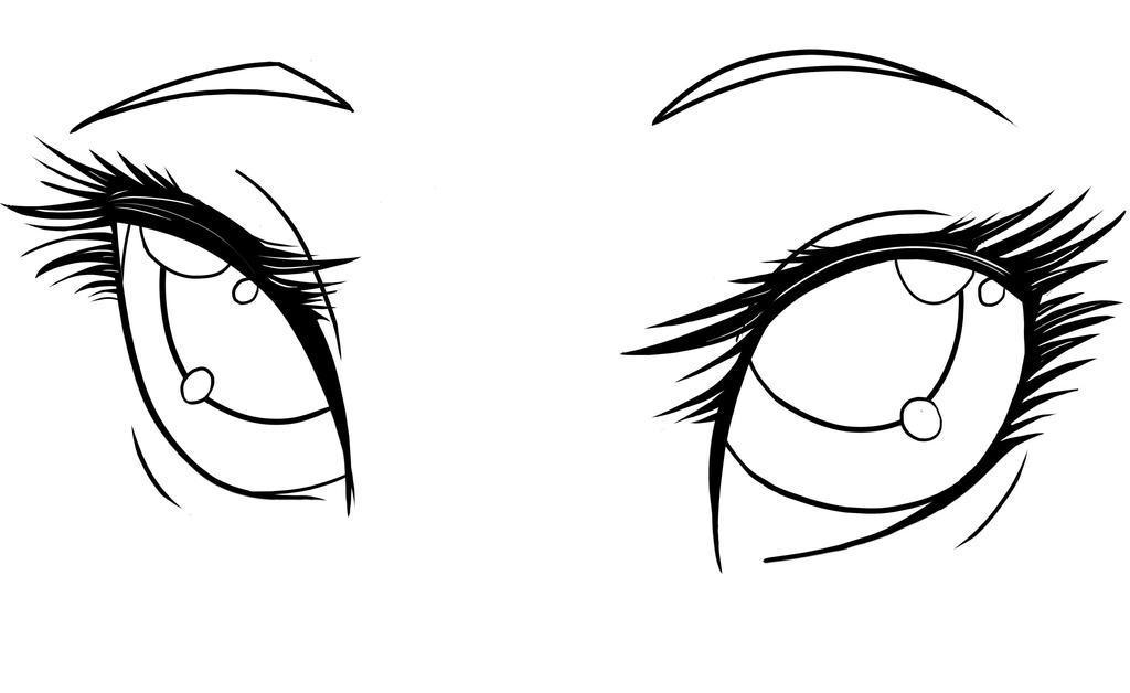 Line Art Anime : Starter anime eyes by lunatheemocat on deviantart