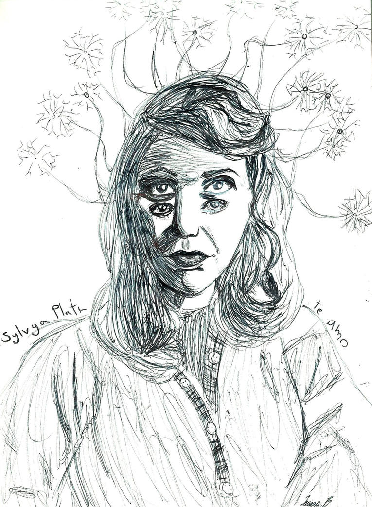 Sylvia Plath by deadbruja