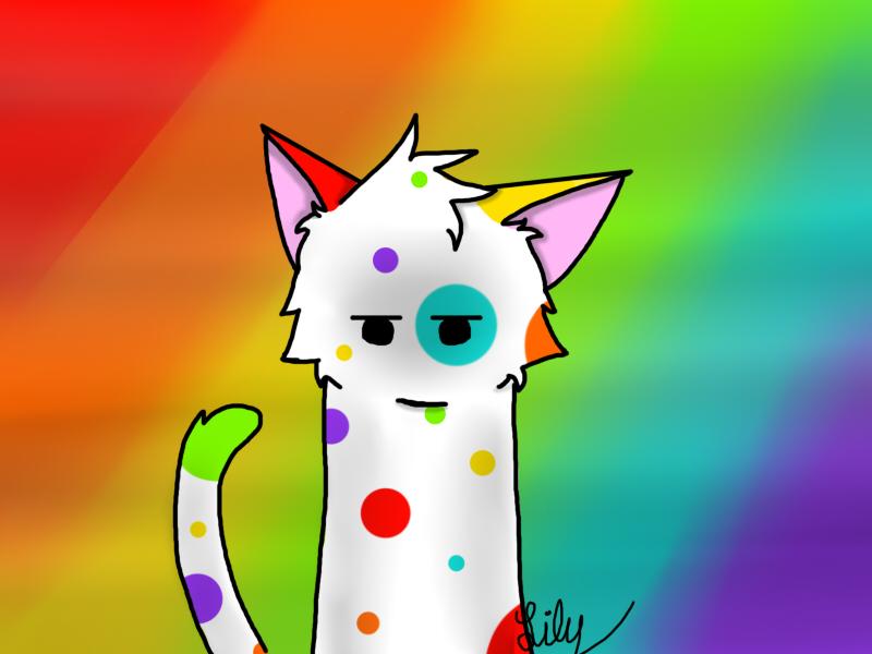 Rainbow kitty by xXThat-One-FoxyXx