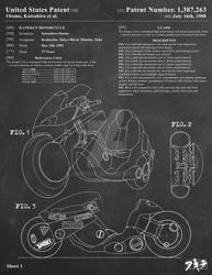 AKIRA - Kaneda's Bike Patent Poster 1 of 3