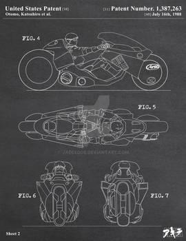 AKIRA - Kaneda's Bike Patent Poster 2 of 3