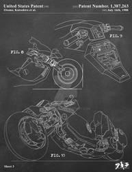 AKIRA - Kaneda's Bike Patent Poster 3 of 3