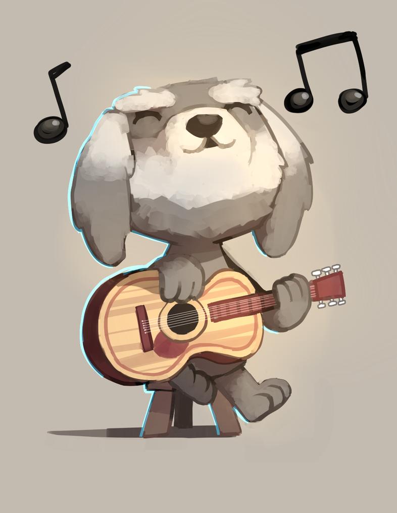 Dhui the dog by Karzahnii